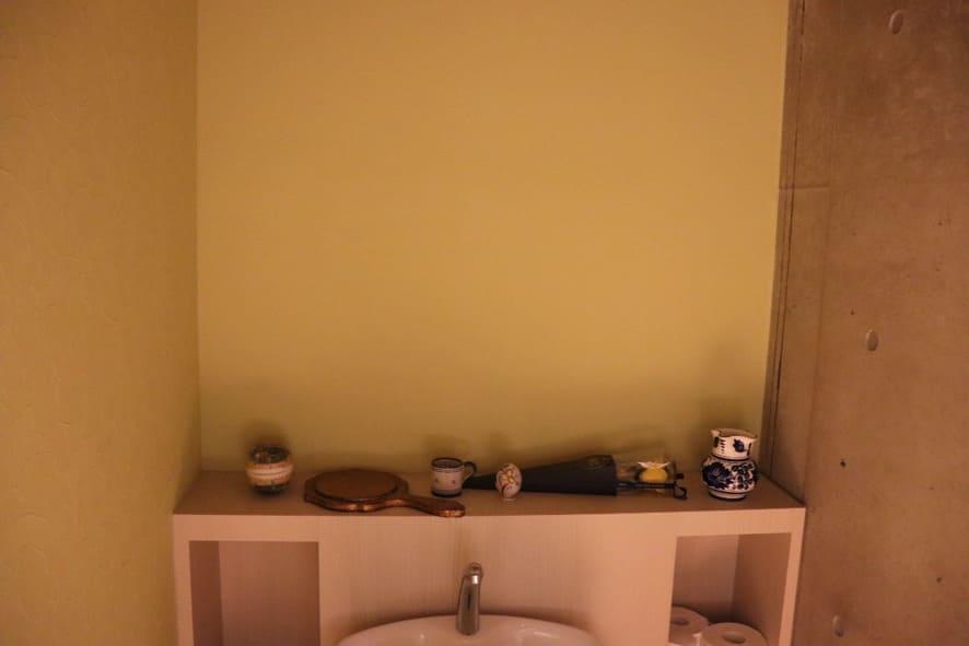 旬菜とイタリアンDAMA トイレの壁紙
