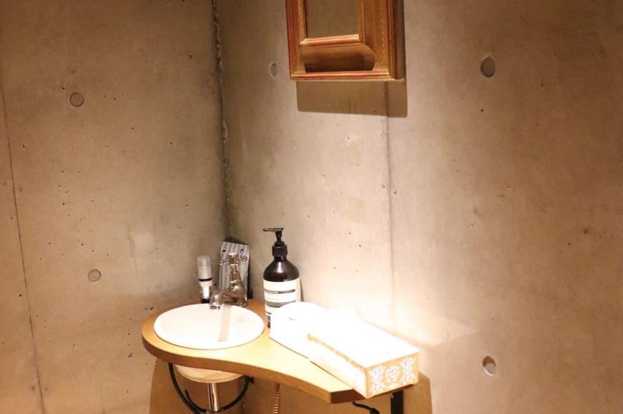旬菜とイタリアンDAMA お手洗い